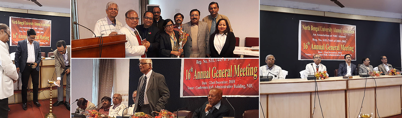 16th AGM on 22nd Dec at NBU Conference Hall