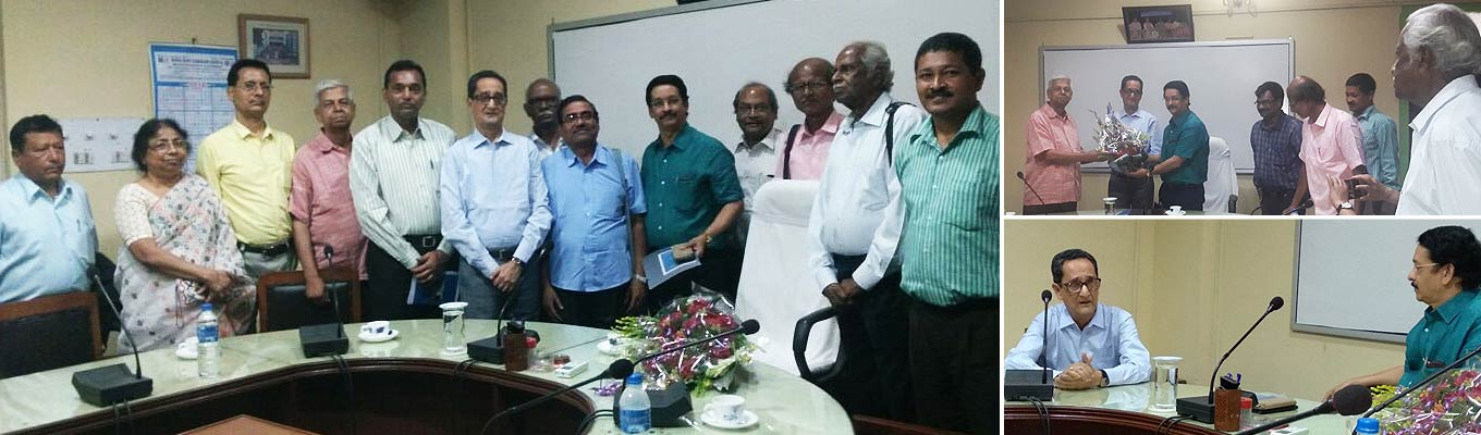 Felicitation of Prof. Subiresh Bhattacharya, new Vice-Chancellor of NBU by NBUAA on May 4.