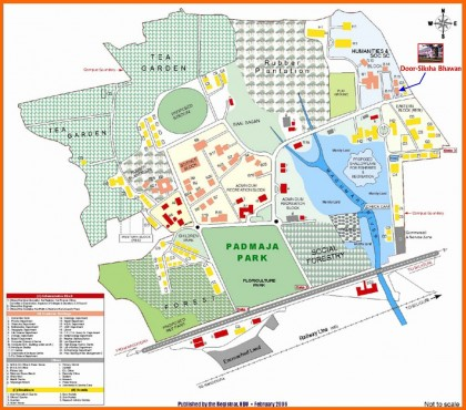 NBU Campus Site Map